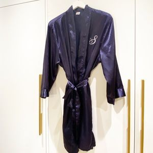 """Satin Robe with """"S"""" initial"""